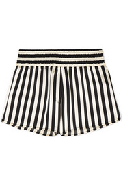 + Amanda Fatherazi Corey striped silk-charmeuse pajama shorts