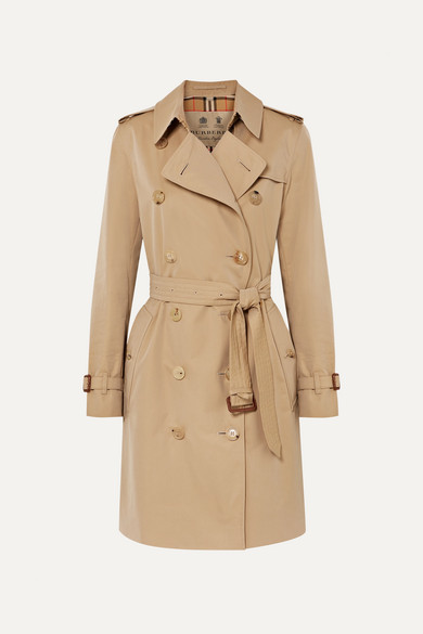 Ladies Camel Classic Kensington Wool And Cashmere-Blend Coat in Brown