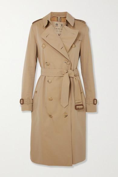 Burberry Coats The Kensington Long cotton-gabardine trench coat