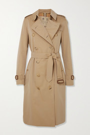 Burberry The Kensington Long Trenchcoat aus Baumwoll-Gabardine