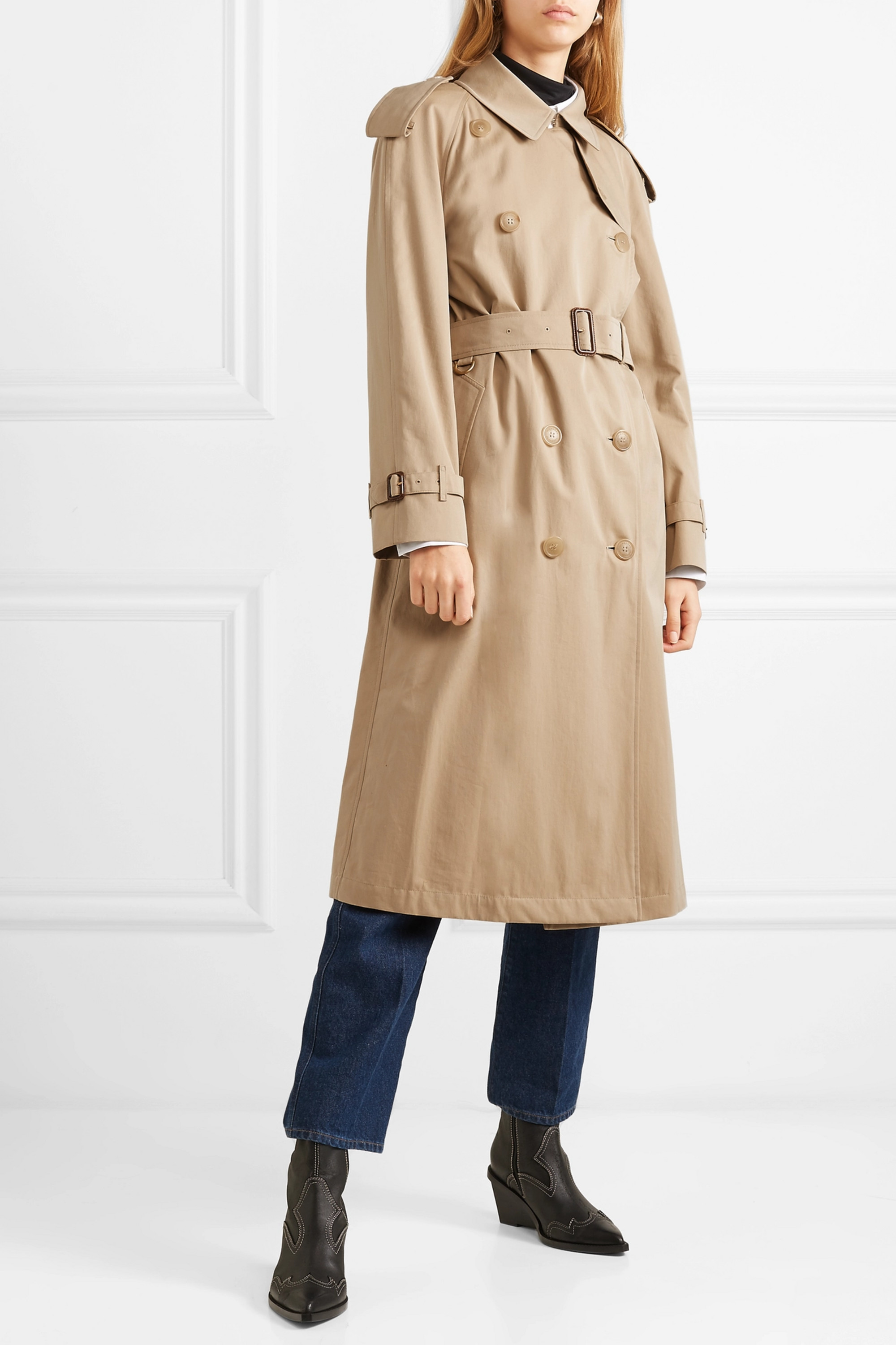 Burberry The Westminster Long cotton-gabardine trench coat