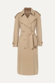 Burberry The Westminster Long Trenchcoat aus Baumwoll-Gabardine