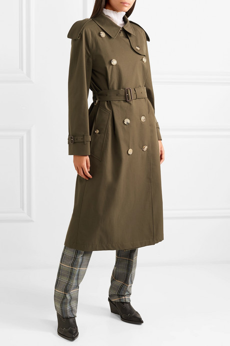 The Westminster Long cotton-gabardine trench coat