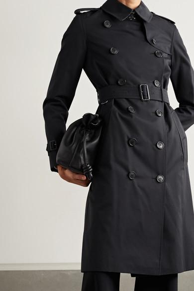 5cd4687ce Burberry. The Kensington Long cotton-gabardine trench coat