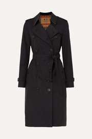 Burberry The Kensington langer Trenchcoat aus Baumwoll-Gabardine
