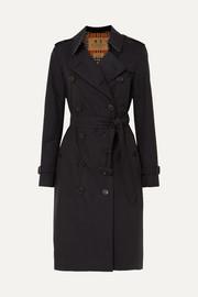 버버리 Burberry The Kensington Long cotton-gabardine trench coat