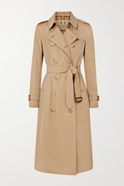 Burberry The Chelsea Long Trenchcoat aus Baumwoll-Gabardine