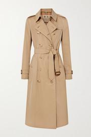 버버리 Burberry The Chelsea Long cotton-gabardine trench coat
