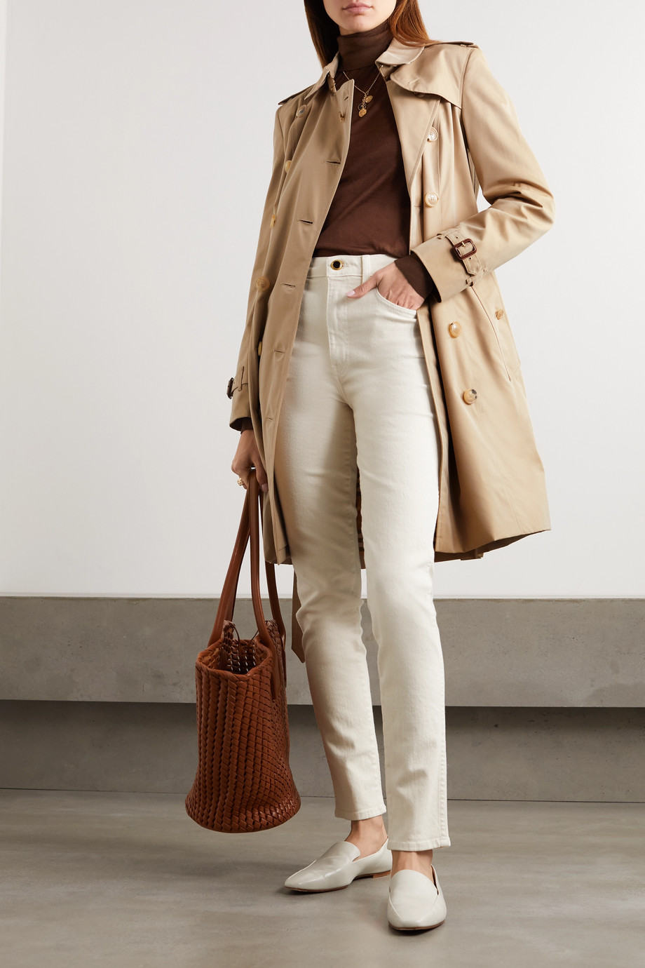 Burberry The Chelsea cotton-gabardine trench coat