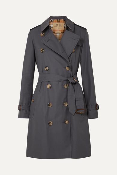 The Kensington Cotton-Gabardine Trench Coat in Gray