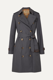 Burberry The Kensington Trenchcoat aus Baumwoll-Gabardine