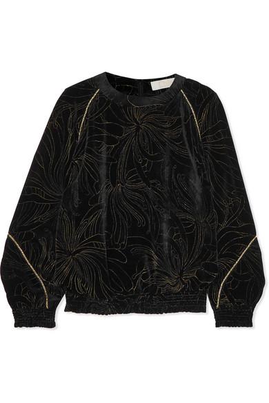 Smocked Printed Velvet Sweatshirt by Chloé