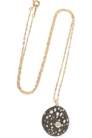 Boop 18-karat gold, stone and diamond necklace