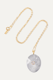 Billow 18-karat gold, stone and diamond necklace