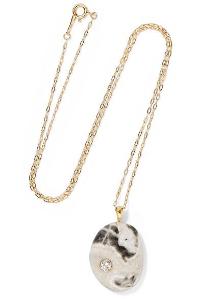 CVC Motely 18-karat Gold, Stone And Diamond Necklace