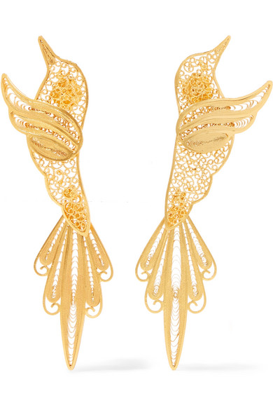 MALLARINO Colibri Gold Vermeil Earrings