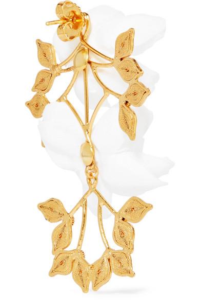 Mallarino Greta Gold Vermeil Silk Earrings Yp0lRzD