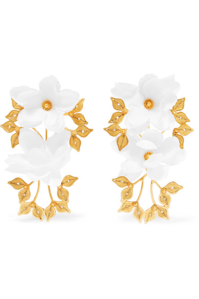 MALLARINO Greta gold vermeil silk earrings