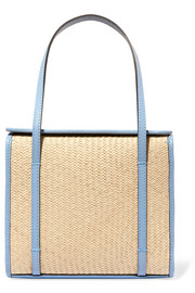 Clo Box raffia and leather tote