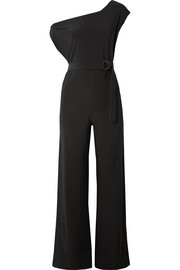 Belted stretch-jersey jumpsuit