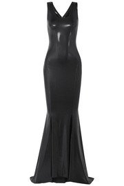 Stretch-lamé gown
