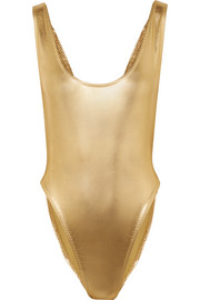 Norma Kamali Marissa metallic swimsuit