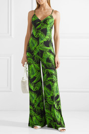 Printed stretch-jersey jumpsuit