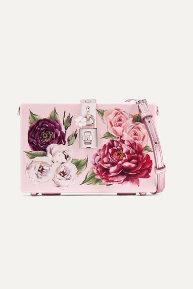 b63cadd699 Dolce   Gabbana. Dolce Box floral-print acrylic shoulder bag