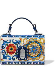 Dolce & Gabbana Lucia printed textured-leather shoulder bag