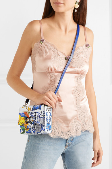 755be4a9fe4c Dolce   Gabbana. DG Millennials embellished printed-leather shoulder bag