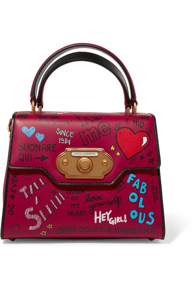 Dolce & Gabbana - Welcome Medium Printed Leather Tote - Red
