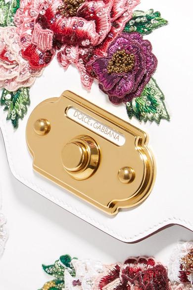 Dolce & Gabbana Accueil Moyen Appliquéd Lisse Et Fourre-tout En Cuir Effet Lézard - Blanc Livraison Gratuite Explorer kvD0ukg