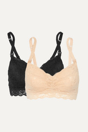 Never Say Never Mommie set of two stretch-lace nursing bras