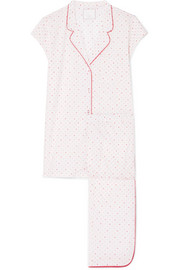 Poppy polka-dot cotton-voile pajama set
