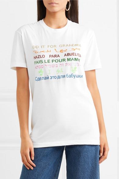 Rosie Assoulin International Women's Day T-Shirt aus Baumwoll-Jersey mit Print