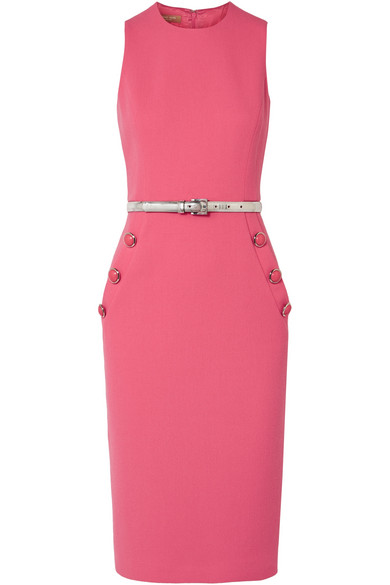 Embellished Wool Blend Bouclé Midi Dress by Michael Kors Collection