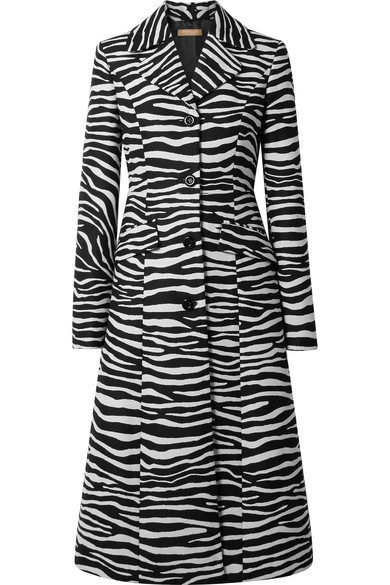 Michael Kors Collection - Wool-jacquard Coat - Zebra print