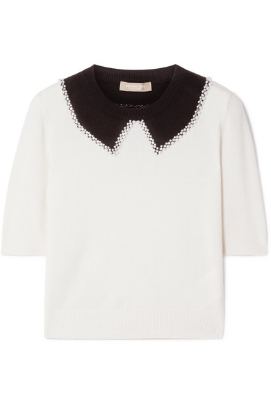 Embellished Cashmere Sweater by Michael Kors Collection