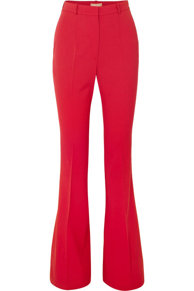 Wool Blend Gabardine Flared Pants by Michael Kors Collection