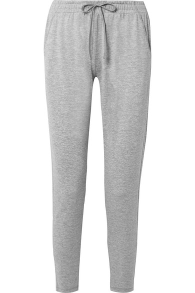 WE/ME The Zen Stretch-Jersey Track Pants in Gray