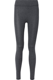 The Retreat Moto stretch-jersey leggings