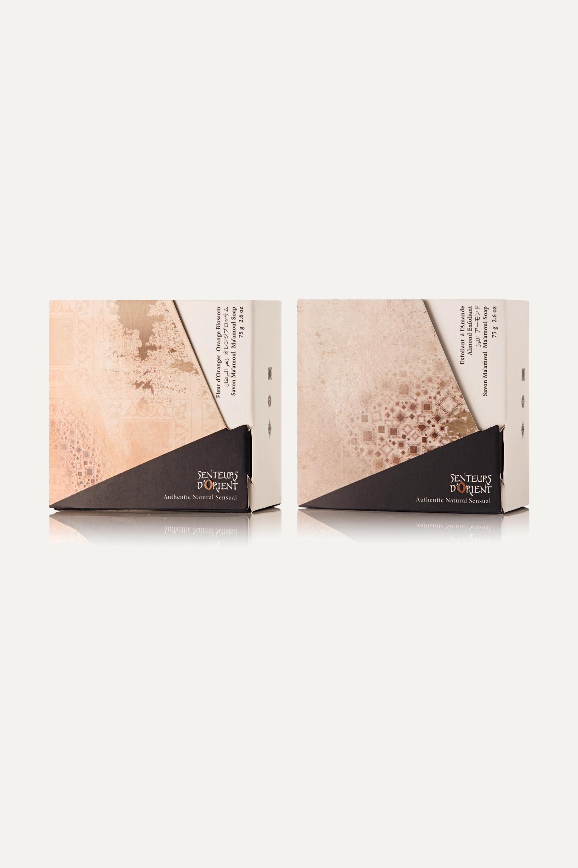 Senteurs d'Orient + NET SUSTAIN Ma'amoul Soap Orange Blossom and Almond Exfoliant Refill Duo