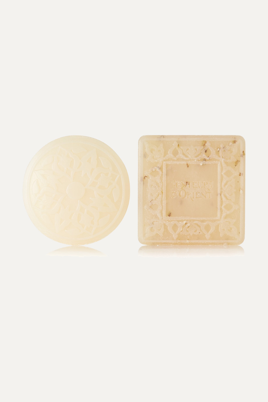Senteurs d'Orient Ma'amoul Soap Rose of Damascus and Almond Exfoliant Refill Duo