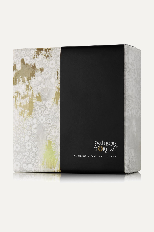 Senteurs d'Orient + NET SUSTAIN Mint Tea Soap Leafs with Marble Dish, 20 x 3.5g