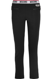 Moschino Cotton-blend and fleece track pants