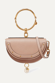 Chloé Nile Bracelet mini textured-leather shoulder bag