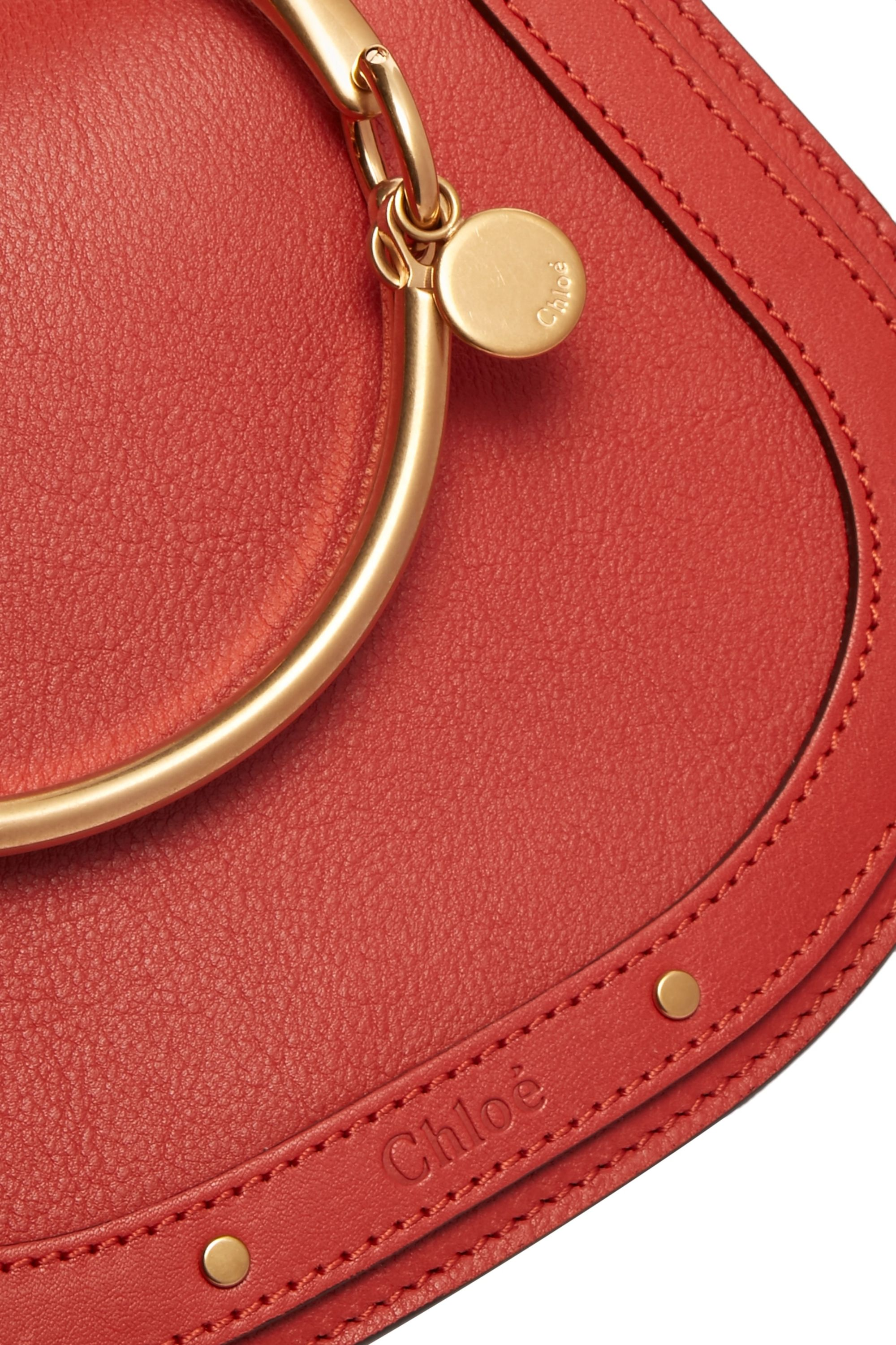 Chloé Nile Bracelet small leather and suede shoulder bag