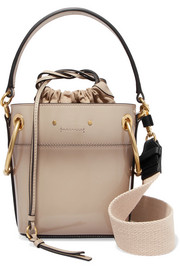 Chloé Roy mini patent-leather bucket bag