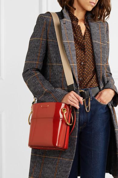 8e445e7271529 Shoptagr   Roy Small Glossed Leather Bucket Bag by Chloé