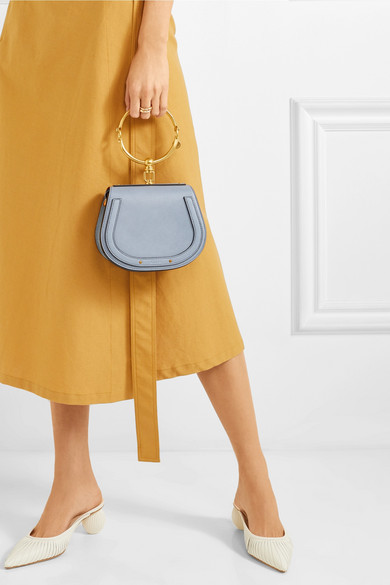 fcd36fd44c Chloé | Nile Bracelet small textured-leather and suede shoulder bag ...